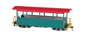 Bachmann Wood Excursion Car - Ready to Run Painted, Unlettered (green, red Roof) - On30-Scale