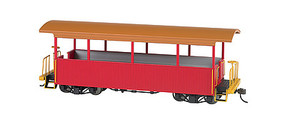 Bachmann Wood Excursion Car - Ready to Run Painted, Unlettered (red, tan Roof) - On30-Scale
