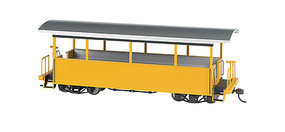 Bachmann Wood Excursion Car - Ready to Run Painted, Unlettered (yellow, silver Roof) - On30-Scale