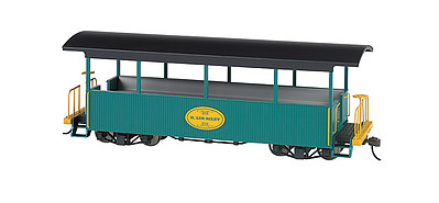 Bachmann Wood Excursion Car - Ready to Run -- H. Lee Riley (green, black Roof) - On30-Scale