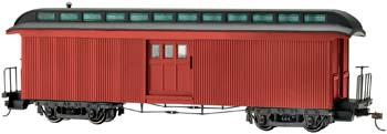 Bachmann Two-Door Baggage Car Painted, Unlettered -- On30 Scale Model Train Passenger Car -- #26498