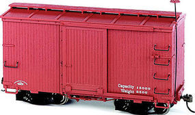 Bachmann Boxcar Oxide Red Data Only O Scale Model Train Freight Car #26552