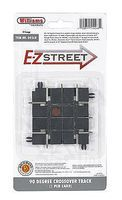 Bachmann E-Z Street Track 90-Degree Crossing pkg(4) O Scale Model Railraod Roadway Accessory #268