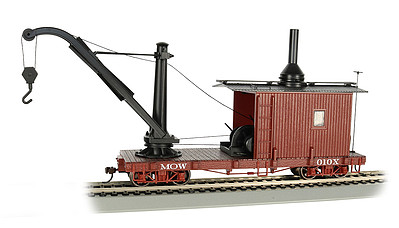 Bachmann On30 Spectrum Derrick Car, MOW/Red