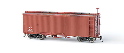 Bachmann Wood Boxcar Data Only (Oxide Red) - On30 -- O Scale Model Train Freight Car -- #27097