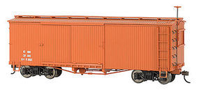 Bachmann On30 Box Car Data Mineral Red O Scale Model Train Freight Car #27098