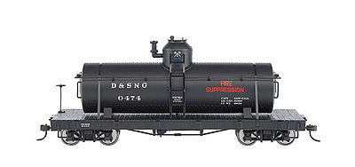Bachmann Spec Tank-D&S #0474 Fire Suppression ON30 -- O Scale Model Train Freight Car -- #27122