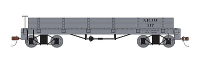Bachmann Gondola MOW Gray - On30-Scale