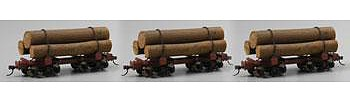 Bachmann Spectrum(R) Skeleton Log Car pkg(3) On30-Scale O Scale Model Train Freight Car #27391