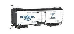 Bachmann Wood Reefer Spectrum(R) - Dairymens League O Scale Model Train Freight Car #27401