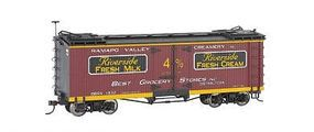 Bachmann Wood Reefer Riverside Milk Dairy (Billboard Scheme) O Scale Model Train Freight Car #27404