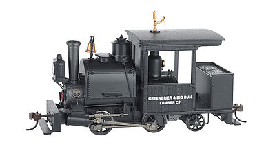 Bachmann Porter 0-4-2 Greenbrier & Big Run Lumber Co. -- On30 Scale Model Trian Steam Locomotive -- #28257