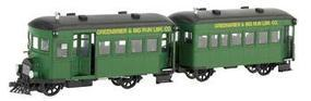 Bachmann Greenbrier & Big Run Lumber Co Rail Bus & Trailer O Scale Model Train Passenger Car #28457