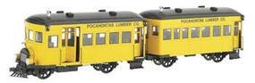 Bachmann Pocahontas Lumber Co Rail Bus & Trailer O Scale Model Train Diesel Locomotive #28460