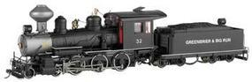 Bachmann Baldwin 4-6-0 Steel Cab Greenbrier On30 Scale Model Train Steam Locomotive #28657