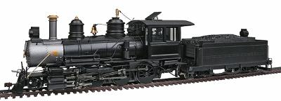 Bachmann Baldwin 4-6-0, Wood Cab Painted, Unlettered -- On30 Scale Model Train Steam Locomotive -- #28697