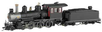 Bachmann Baldwin 4-6-0, Steel Cab Painted, Unlettered -- On30 Scale Model Train Steam Locomotive -- #28698