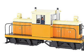 Bachmann Whitcomb 50 Ton Painted/Unlettered Orange/Cream O Scale Model Train Diesel Locomotive #29202