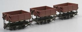 Bachmann Wood Side Dump Car (3) On30 Scale Model Train Freight Car Set #29801
