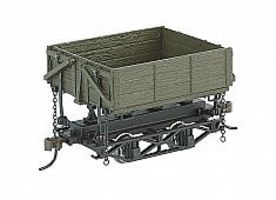 Bachmann Spec Wood Side Dump Car Green (3) O Scale Model Train Freight Car #29804