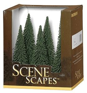 Bachmann Pine Trees 5-6 (6) -- Model Railroad Scenery -- #32001