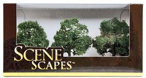 Bachmann 3-3-1/2 Oak Trees (3/pk) Model Railroad Scenery #32013