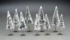 Bachmann 3-4 Pine Trees w/Snow (9) N Scale Model Railroad Scenery #32102