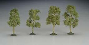 Bachmann 2 1/2-2 3/4 Inch Sycamore Trees (4) N Scale Model Railroad Scenery #32109