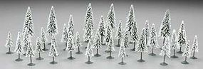 Bachmann 3-4 Inch Pine Trees w/Snow (36) N Scale Model Railroad Scenery #32153