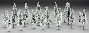 Bachmann Snow-Covered Pines 5-6'' Tall pkg(24) Model Railroad Scenery #32154