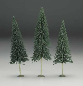 Bachmann 8-10 Pine Trees (3/pk) O Scale Model Railroad Scenery #32201