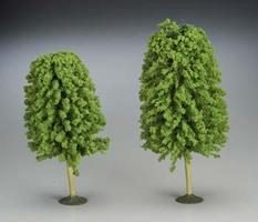 Bachmann 5 1/2-6 1/2 Inch Deciduous Trees (2) O Scale Model Railroad Scenery #32206