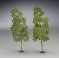 Bachmann 8 Inch Sycamore Trees (2) O Scale Model Railroad Scenery #32209