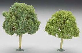 Bachmann 4.5-5 Inch Oak Trees (2) O Scale Model Railroad Scenery #32213