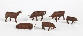 Cows Brown/White HO Scale Model Railroad Figure #33102