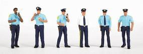 Police Squad (6) HO Scale Model Railroad Figure #33104