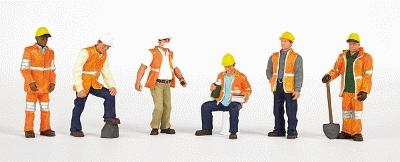 Bachmann Maintenance Workers (6) -- HO Scale Model Railroad Figure -- #33106