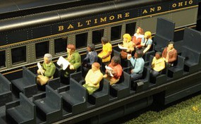 Bachmann Waist-up Seated Passengers (12) HO
