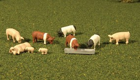Bachmann HO Scenescapes Pigs (9)