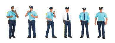 Bachmann Police Squad (6) O Scale Model Railroad Figure #33154