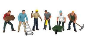 Bachmann Construction Workers (6) O Scale Model Railroad Figure #33155