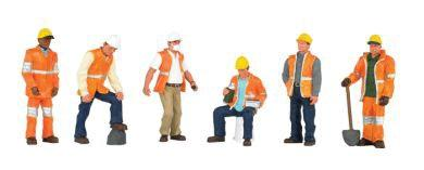 Bachmann Maintenance Workers (6) O Scale Model Railroad Figure #33156