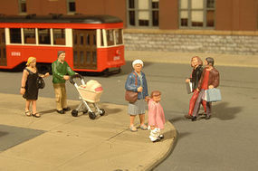 Bachmann Scenescapes People Strolling (6 & Baby Coach) O Scale Model Railroad Figure #33159