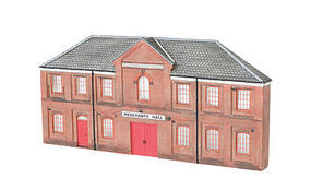 Bachmann Resin Front Merchants Hall HO Scale Model Railroad Building #35007