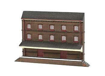 Bachmann Resin Front 3-Story Warehouse -- N Scale Model Railroad Building -- #35051