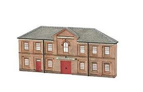 Bachmann Resin Front Tmerchants Hall N Scale Model Railroad Building #35056