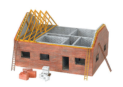 Bachmann Residential Building Site -- HO Scale Model Railroad Building -- #35105