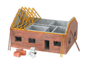 Bachmann Residential Building Site HO Scale Model Railroad Building #35105
