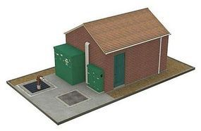 Bachmann Pump Station HO Scale Model Railroad Trackside Accessory #35109