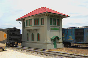 Bachmann Central Junction Switch Tower HO Scale Model Railroad Trackside Accessory #35114